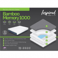 MLily Bamboo Memory 1000 Double Size Mattress